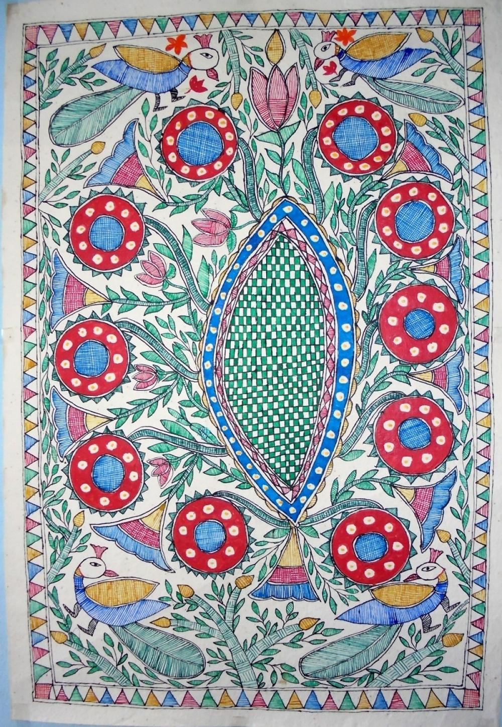 Home Madhubani Art Canvas