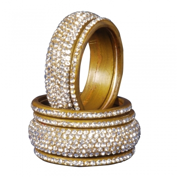 Lac Bangles with stone work - LB002