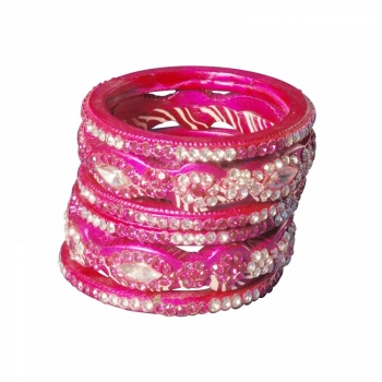 Lac Bangles with stone work - LB003