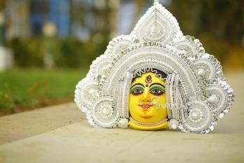 Goddess Durga Mask - White
