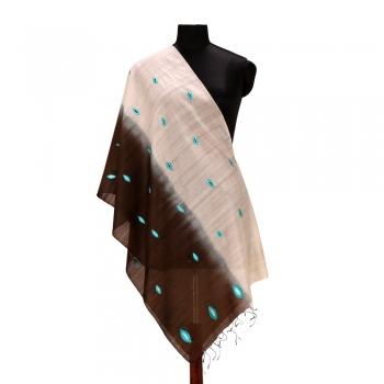 Blue Eye Design Silk Wool Stole